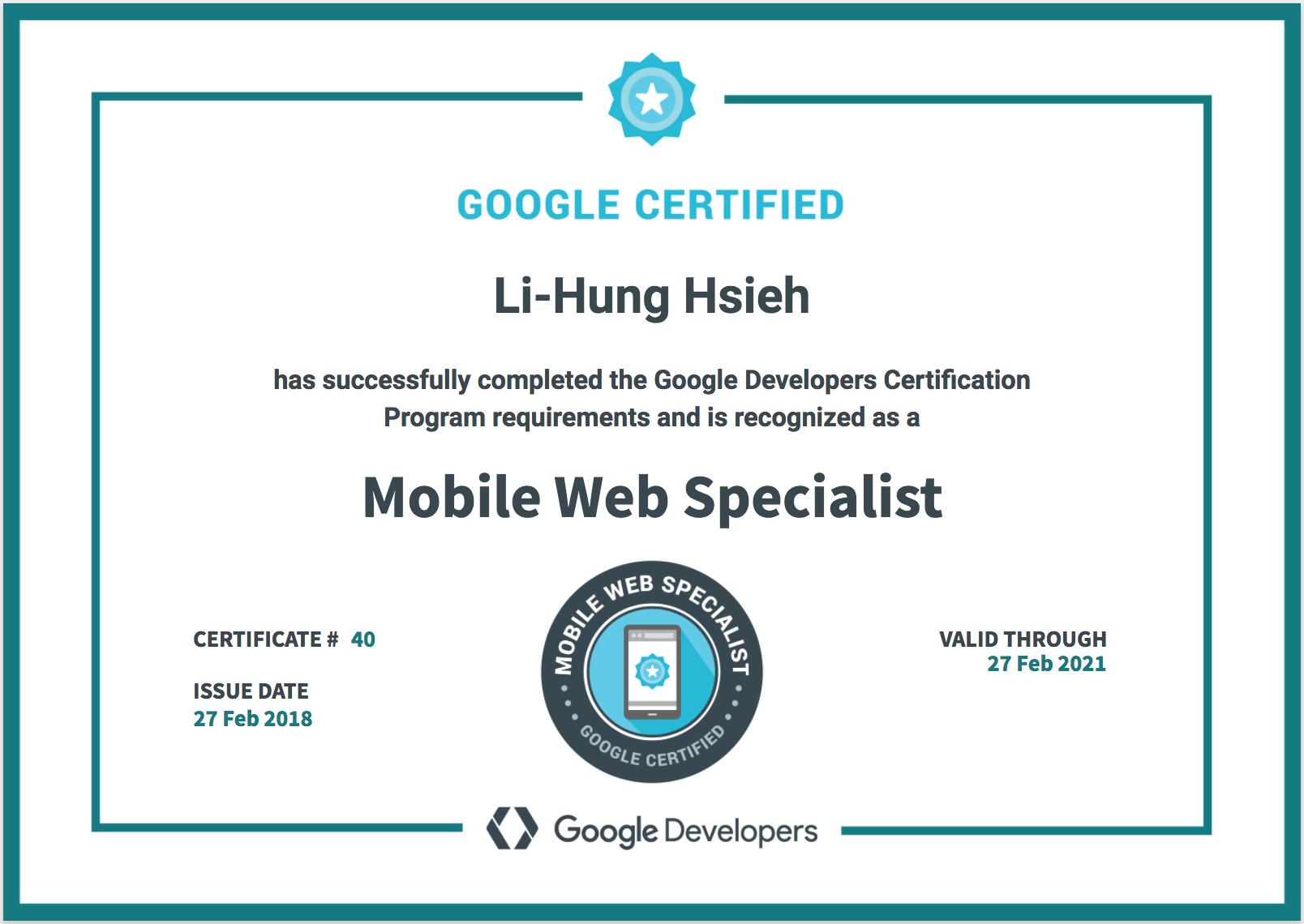 Certification Leos Portfolio