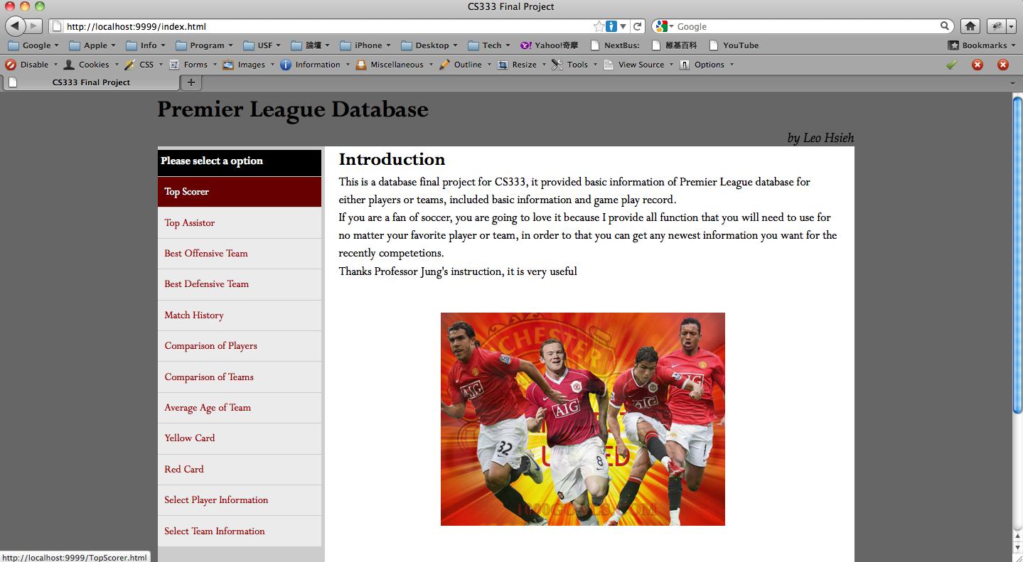 Premier League Database